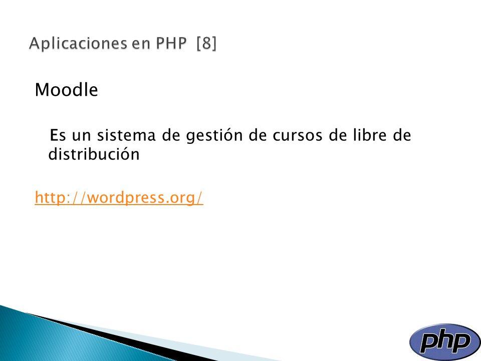 Moodle Aplicaciones en PHP [8]
